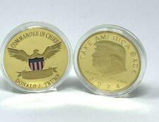2024 President Donald Trump Golden Plate Commemorative Coin Take America Back!