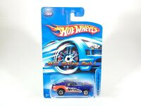 2006 HOT WHEELS 1970 MUSTANG MACH 1 #125 BLUE IN PROTECTOR 1/64 DIECAST
