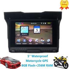"""5"""" Motorcycle Car GPS Waterproof Motorbike Bluetooth Navigation NAV 8GB + Maps"""