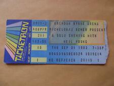 Neil Young 1983 Concert Ticket Stub 9-1-83 Brendan Byrne Arena NJ Shocking Pinks