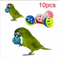 10pcs Hollow Rolling Bell Ball Pet Bird Toy For Parrot Chew Cage Fun Toys..