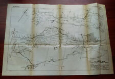 1919 Map of Canals of St. Lawrence River Farran Point Cornwall Canals Islands