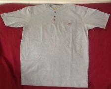 Carhartt Mens Henley T Shirt Sz Med. Gray Short Slv 1 Pocket Top