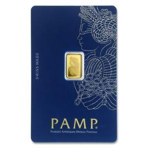 1 GRAM - PURE GOLD BAR - PAMP SUISSE - FORTUNA - VERISCAN® - ASSAY - $9.99 - BID