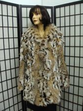 *EXCELLENT MONTANA LYNX FUR JACKET COAT WOMEN WOMAN SIZE 8-10 MEDIUM