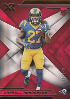 2019 XR Red #125 Darrell Henderson Rookie Card 100/249 Los Angeles Rams Memphis