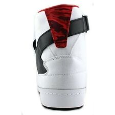 NEW Adidas Men's Black Scale X Forum Hi Sneakers - White/Red - Size:6