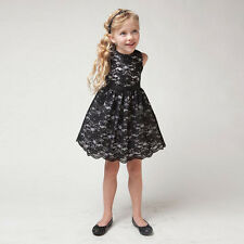 Kids Girls Pageant Party Wedding Formal Bridesmaid Princess Lace Dress Gown New