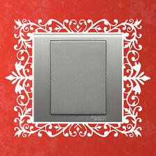 Light Switch Scroll Damask Pretty Gift Hous Wall Art Netbook Vinyl Stickers UK