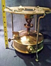 "Antique SVEA 1 The King of Stoves Sweden Brass Camping Stove 9"" high"