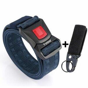 Men Nylon Belt Canvas Pluggable Buckle Durable Training Metal Sports Accessories