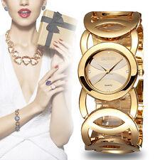 Luxury WEIQIN Women Girls Bracelet Watch Set Drill Scales Hollow Out Alloy Watch