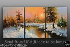 Framed Palette Knife Impressionism Oil Painting On Canvas Ready To Be Hung