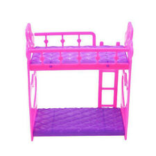 Bunk Bed For Doll  House Furniture Accessories Plastic DIY High Quality