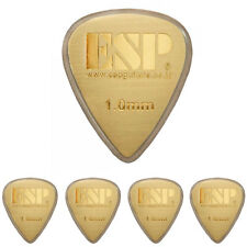 ESP GOLD HAIRLINE METAL HEAVY GUITAR PICK PLECTRUM 1.0mm   x5