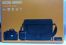 Canon EOS 4000D Black EF-S 18-55mm III Lens Bag SD Card 18 MP Camera Bundle UK