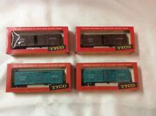 Vintage Tyco HO Train Stock Cars  - Santa Fe 80680 And M-K-T 47150 Lot Of 4- NIP