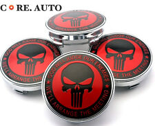 4pc 61mm/ 55mm Skull The Punisher Car Wheel Center Caps For Octavia Fabia Yeti