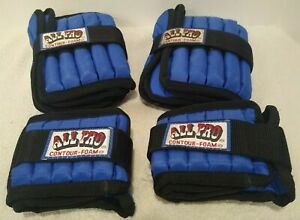 All Pro Contour Foam SET OF 4 (14 lbs) Two Ankle 5 lb per and Two Wrist 2 lb per