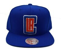 Los Angeles Clippers Mitchell & Ness Current Solid Wool Snapback Hat Cap NBA