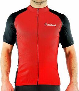 Didoo Mens Cycling Jersey Full Zipper Short Sleeve Summer High Viz Half Shirt