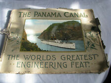 Vintage Paper Book THE PANAMA CANAL THE WORLD'S ENGINEERING FEEAT PRINTS