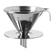 OVERST 3-piece metal Funnel filter coffee set Stainless steel