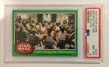 1977 TOPPS STAR WARS TRADING CARD - SERIES 4: GREEN - #227 INSTRUCTING - PSA 8