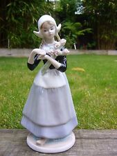 Dutch lady girl porcelain figurine