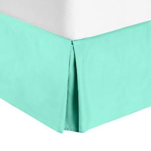 "Premium Luxury Pleated Tailored Bed Skirt - 14"" Drop Dust Ruffle, Full XL - Mint"
