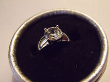BAGUE OR BLANC GOLD FILLED CUBIC ZIRCONIA WHITE GOLD FILLED T8/NEW
