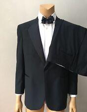 Tuxedo Men's 2 Piece Satin Vintage Classic One Button Wool Pants Suit 48L 42x31