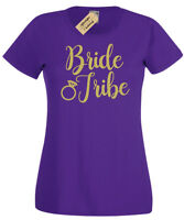 BRIDE TRIBE T-Shirt funny Womens ladies hen party top