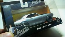 Jada 1/32 Fast & Furious Roman's Chevy Camaro Z28 Silver Black Hood Scoop