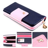 Damen Geldbörse Portmonee Portemonnaie Tasche Geldbeutel mit Kartenfach XXL