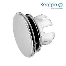 KNOPPO® SET 3 x Waschbecken Überlaufblende / Überlauf Abdeckung - Mirror (chrom)