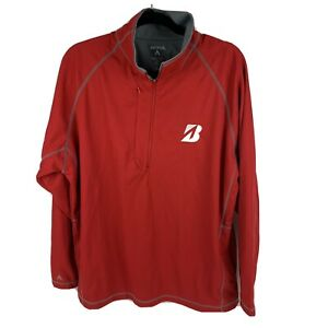 Antigua Bridgestone Golf Jacket Desert Dry Exta-Lite Red Long Sleeve Mens Large