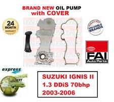 Pour Suzuki Ignis II 1.3 Ddis 70bhp 2003-2006 Fai Neuf Huile Pompe + Coque +