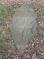 Vintage Us Military Shelter Half With Button Fasteners 1950's-1960's