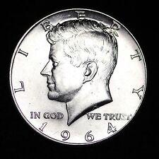 1964-D Kennedy Silver Half Dollar NICE GEM BU FREE SHIPPING!