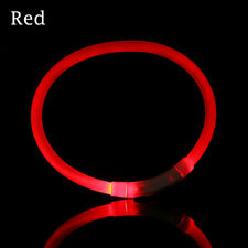 Adjustable Rechargeable USB Waterproof LED Flashing Light Luminous Band Pet Dog