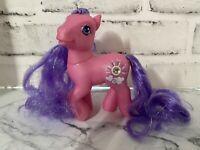 Silver Lining My Little Pony MLP G3 2003 Long Purple Tinsel Hair Jewel Sun