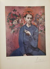 PABLO PICASSO HAND SIGNED NUMBERED 1954 TIPPED LITHOGRAPH + NO RESERVE !