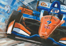 Canvas 2018 Dallara Honda Indy Car #9 Scott Dixon (NZL) by Toon Nagtegaal LE
