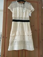 BNWT  Tk Maxx  DANITY Dress Crochet Lace Cream Lined Polyester Size M