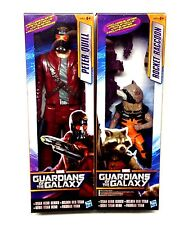 "Marvel Comics GUARDIANS OF THE GALAXY Movie Large 10"" Starlord & Rocket figures"