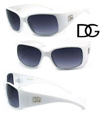DG Wrap Sunglasses with Free Pouch UV Protection - White Frame DG23