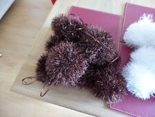 Hand knitted Christmas Tinsel Bauble Brown (copper)