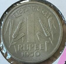 1950 India 1 One Rupee - Nice Almost Uncirculated