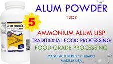 5 Humco Alum USP Ammonium Deodorant Foot Powder 12 oz. Fungi-Killing Properties
